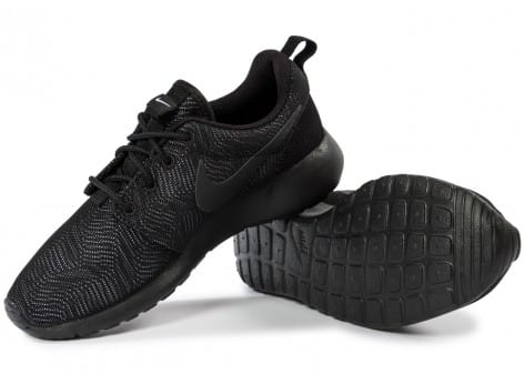 Chaussures Nike Roshe One Moire noire vue intérieure