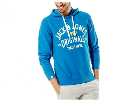 Sweat Jack & Jones Sweat à Capuche Athletic bleu