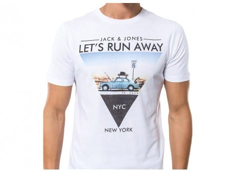 Tee-shirt Jack & Jones T-Shirt Road Trip blanc