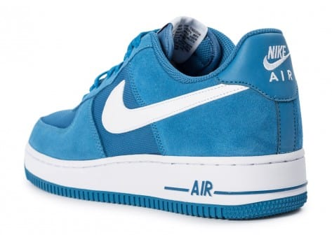 Chaussures Nike Air Force 1 Suede bleue vue arrière