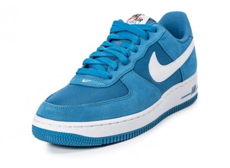 Chaussures Nike Air Force 1 Suede bleue vue avant