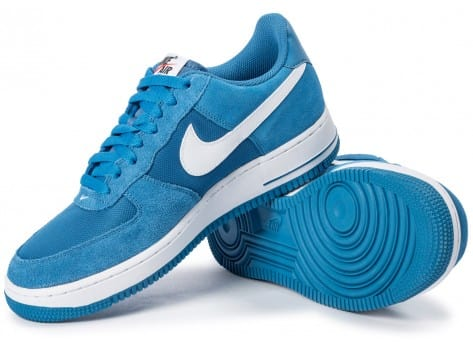 Chaussures Nike Air Force 1 Suede bleue vue intérieure