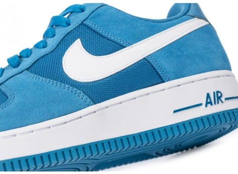 Chaussures Nike Air Force 1 Suede bleue vue dessus