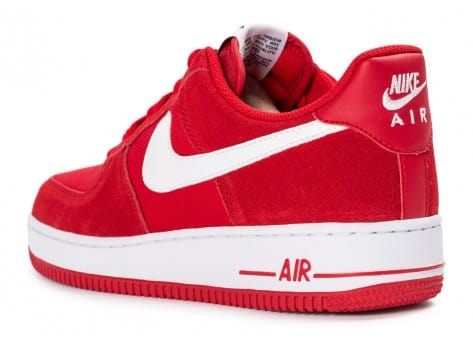 Chaussures Nike Air Force 1 Suede rouge vue arrière