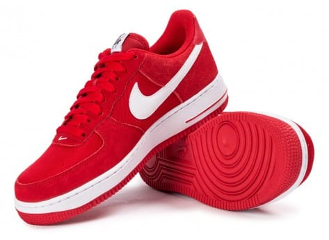 Chaussures Nike Air Force 1 Suede rouge vue intérieure