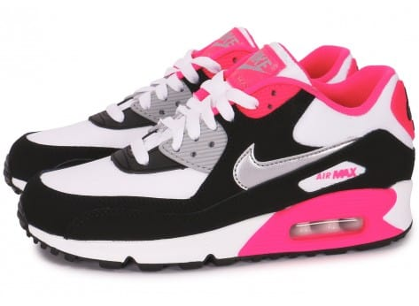 nike femme roshe run - Nike Air Max 90 junior blanc noir rose - Chaussures Nike - Chausport