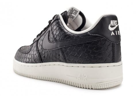 Chaussures Nike Air Force 1 07 LV8 Snake noire vue avant