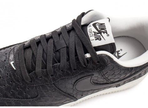 Chaussures Nike Air Force 1 07 LV8 Snake noire vue dessus