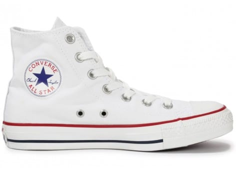 Chaussures Converse Chuck Taylor All Star Hi blanche vue dessous