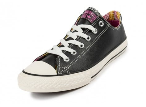 Chaussures Converse Chuck Taylor All-Star Craft cuir Junior noire vue avant