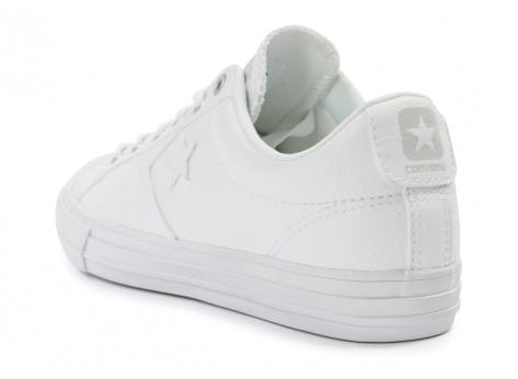Chaussures Converse Star Player Cuir blanche vue arrière