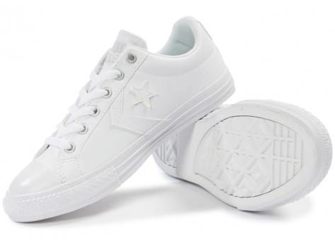 Chaussures Converse Star Player Cuir blanche vue intérieure