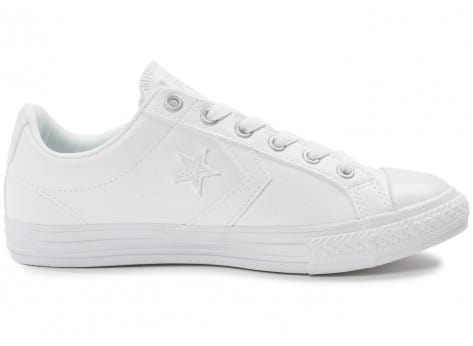 Chaussures Converse Star Player Cuir blanche vue dessous
