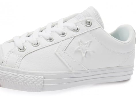 Chaussures Converse Star Player Cuir blanche vue dessus