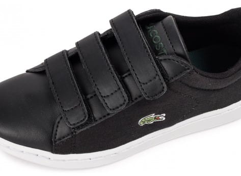 Chaussures Lacoste Carnaby Evo enfant noire vue dessus
