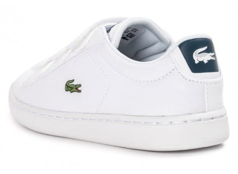 Chaussures Lacoste Carnaby Evo enfant blanche vue arrière
