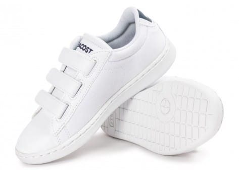 Chaussures Lacoste Carnaby Evo enfant blanche vue intérieure