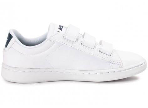 Chaussures Lacoste Carnaby Evo enfant blanche vue dessous