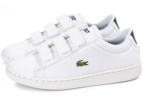 Chaussures Lacoste Carnaby Evo enfant blanche vue extérieure