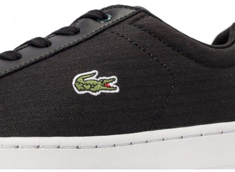 Chaussures Lacoste Carnaby Evo Junior Textile noire vue dessus