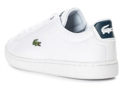 Chaussures Lacoste Carnaby Evo Junior Textile blanche vue arrière