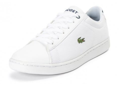 Chaussures Lacoste Carnaby Evo Junior Textile blanche vue avant
