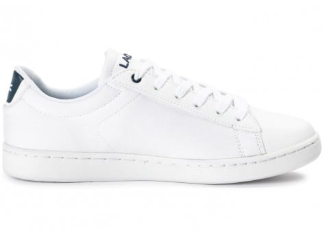 Chaussures Lacoste Carnaby Evo Junior Textile blanche vue dessous