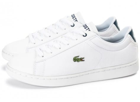 Chaussures Lacoste Carnaby Evo Junior Textile blanche vue extérieure