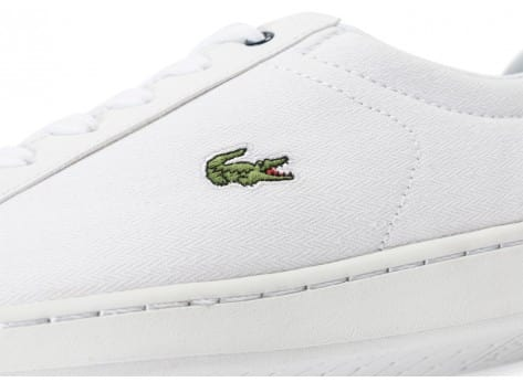 Chaussures Lacoste Carnaby Evo Junior Textile blanche vue dessus