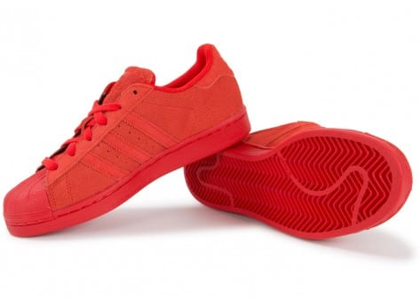 Chaussures adidas Superstar Multicolor W rouge vue intérieure
