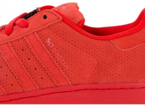 Chaussures adidas Superstar Multicolor W rouge vue dessus