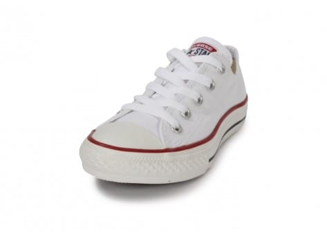 Chaussures Converse Chuck Taylor All Star enfant basse blanche vue avant