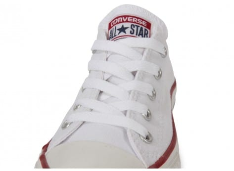 Chaussures Converse Chuck Taylor All Star enfant basse blanche vue dessus