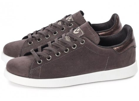 Chaussures Victoria Deportivo Suede anthracite vue extérieure