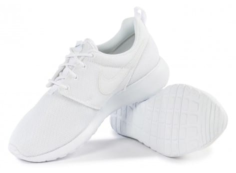 Chaussures Nike Roshe One Junior blanche vue intérieure
