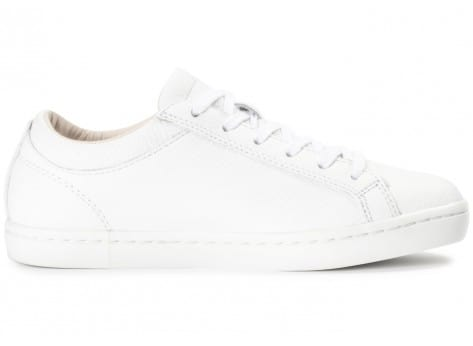 Chaussures Lacoste Straightset blanche et or vue dessous