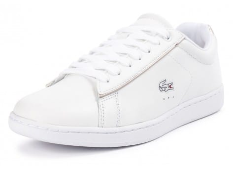 Chaussures Lacoste Carnaby Evo blanche vue avant