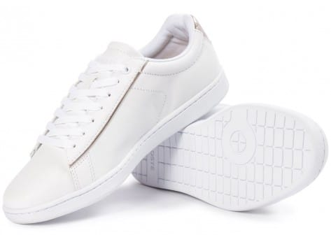 Chaussures Lacoste Carnaby Evo blanche vue intérieure