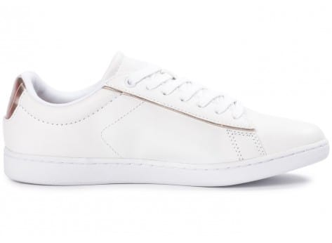 Chaussures Lacoste Carnaby Evo blanche vue dessous