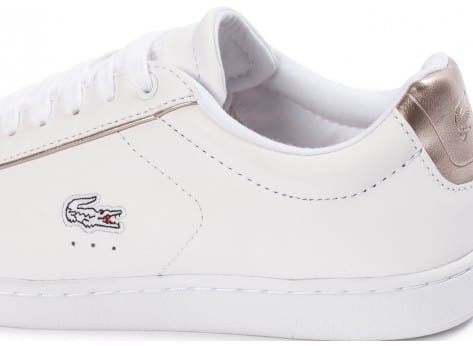 Chaussures Lacoste Carnaby Evo blanche vue dessus