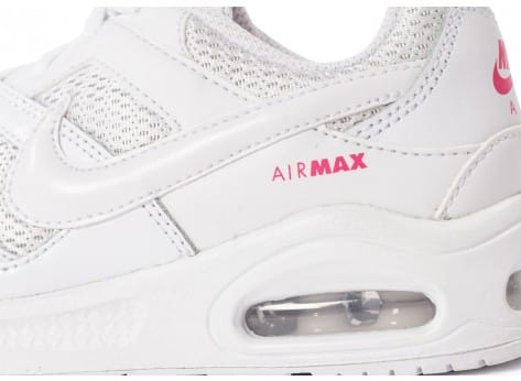Chaussures Nike Air Max Command enfant blanche vue dessus
