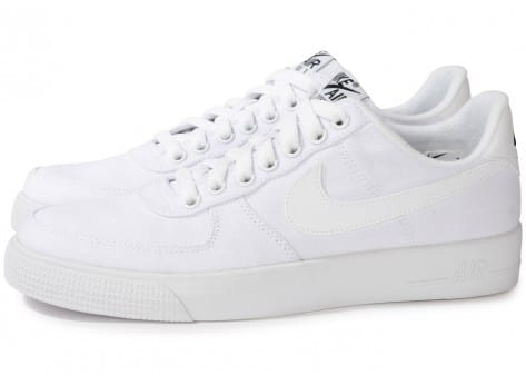 nike blanche toile,Chaussures Nike Flash Toile Blanche vue