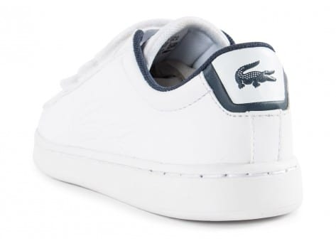 Chaussures Lacoste Carnaby Enfant blanche vue arrière