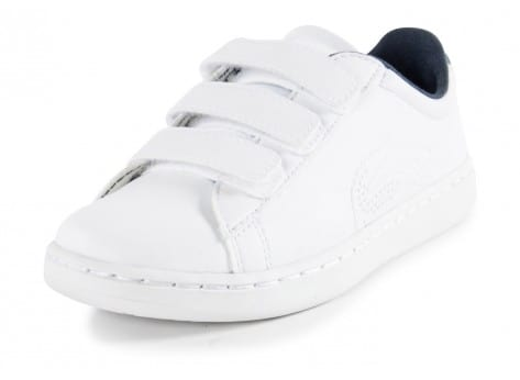Chaussures Lacoste Carnaby Enfant blanche vue avant