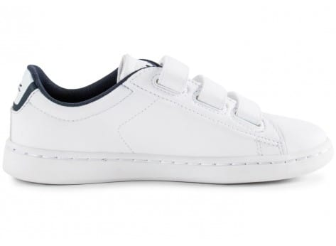 Chaussures Lacoste Carnaby Enfant blanche vue dessous