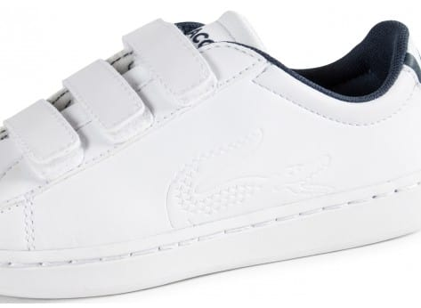 Chaussures Lacoste Carnaby Enfant blanche vue dessus