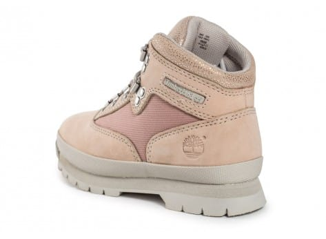 Chaussures Timberland Euro Hiker Mid Enfant rose vue arrière
