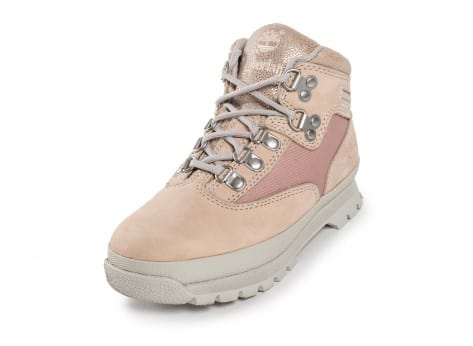 Chaussures Timberland Euro Hiker Mid Enfant rose vue avant