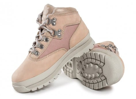 Chaussures Timberland Euro Hiker Mid Enfant rose vue intérieure