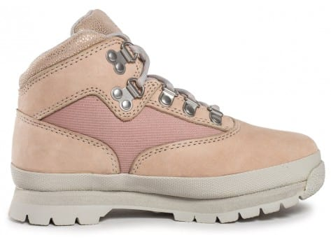 Chaussures Timberland Euro Hiker Mid Enfant rose vue dessous
